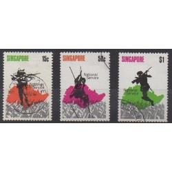 Singapour - 1970 - No 119/121 - Histoire militaire - Oblitérés