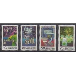 Singapour - 1986 - No 493/496 - Sciences et Techniques