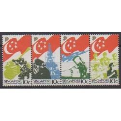 Singapour - 1987 - No 515/518 - Histoire militaire