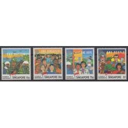 Singapour - 1990 - No 586/589 - Histoire