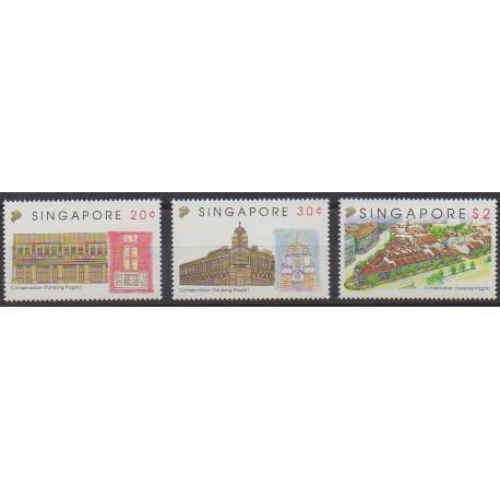 Singapour - 1993 - No 664/666 - Monuments