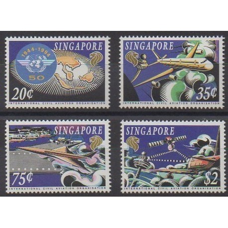 Singapour - 1994 - No 719/722 - Aviation