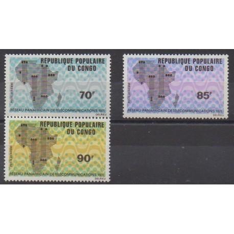 Congo (République du) - 1971 - No PA118/PA120 - Télécommunications