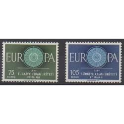 Turkey - 1960 - Nb 1567/1568 - Europa