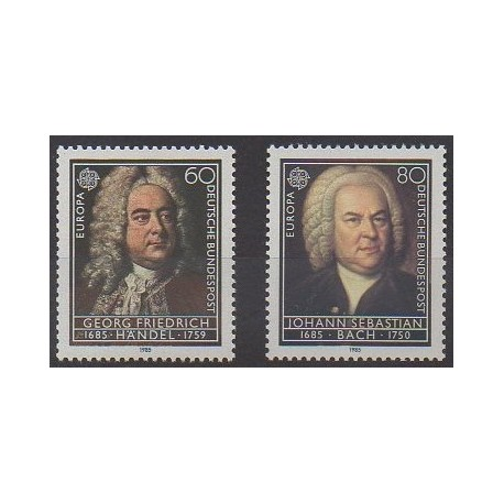 Allemagne occidentale (RFA) - 1985 - No 1080/1081 - Musique - Europa
