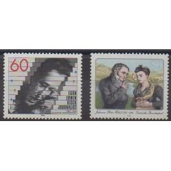 Allemagne occidentale (RFA) - 1985 - No 1078/1079 - Célébrités