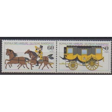 Allemagne occidentale (RFA) - 1985 - No 1087/1088 - Service postal - Philatélie