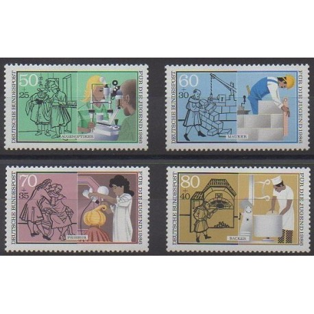 Allemagne occidentale (RFA) - 1986 - No 1106/1109 - Artisanat ou métiers