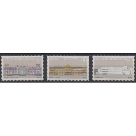 Allemagne occidentale (RFA) - 1986 - No 1119/1121 - Monuments
