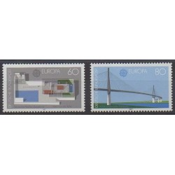 West Germany (FRG) - 1987 - Nb 1153/1154 - Bridges - Europa