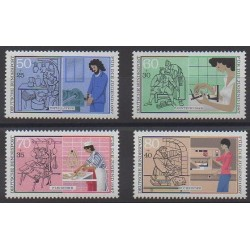 Allemagne occidentale (RFA) - 1987 - No 1147/1150 - Artisanat ou métiers