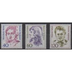 Allemagne occidentale (RFA) - 1987 - No 1163/1165 - Célébrités