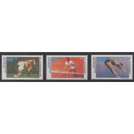 Allemagne occidentale (RFA) - 1988 - No 1185/1187 - Sports divers