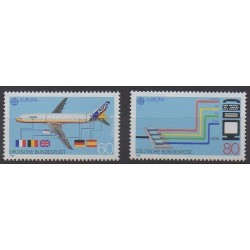 Allemagne occidentale (RFA) - 1988 - No 1199/1200 - Europa - Télécommunications - Aviation