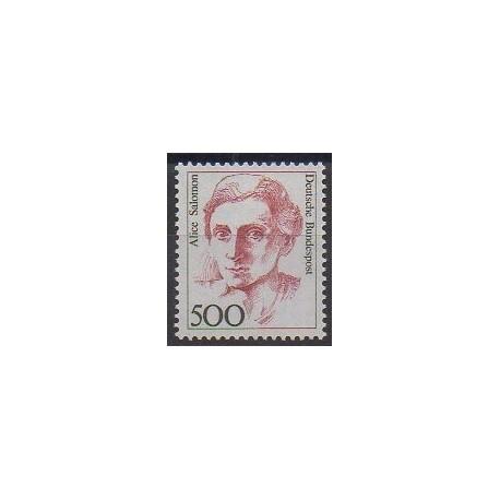 Allemagne occidentale (RFA) - 1989 - No 1229 - Célébrités
