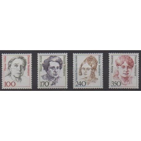 Allemagne occidentale (RFA) - 1988 - No 1222/1225 - Célébrités
