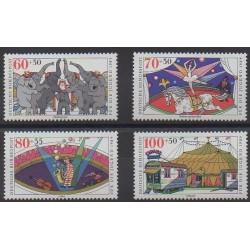 Allemagne occidentale (RFA) - 1989 - No 1243/1246 - Cirque ou magie