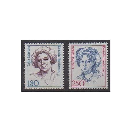 Allemagne occidentale (RFA) - 1989 - No 1259/1260 - Célébrités