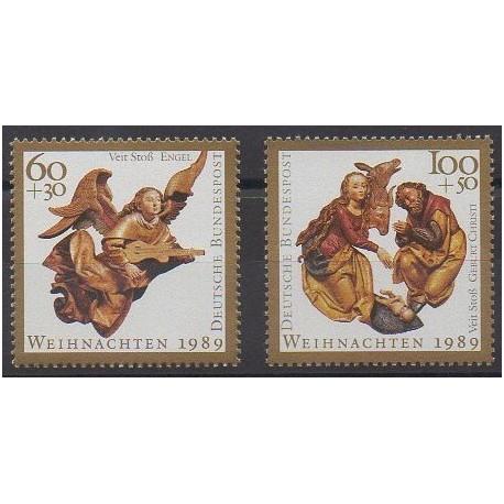 Allemagne occidentale (RFA) - 1989 - No 1274/1275 - Noël