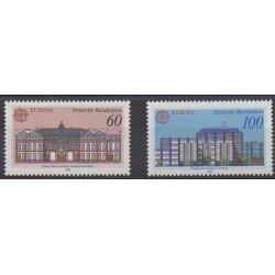 Allemagne occidentale (RFA) - 1990 - No 1293/1294 - Service postal - Europa