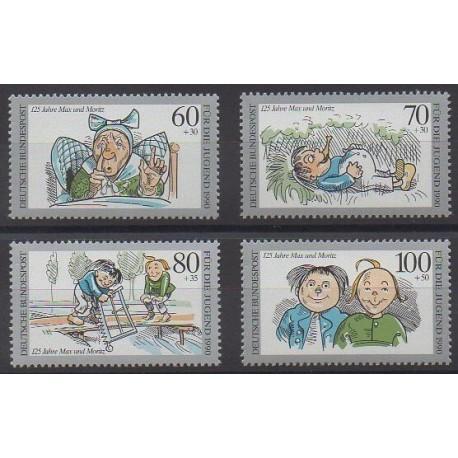 Allemagne occidentale (RFA) - 1990 - No 1287/1290 - Dessins Animés - BD