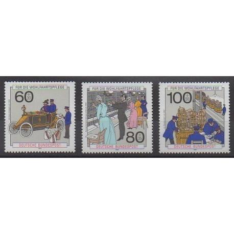 Allemagne occidentale (RFA) - 1990 - No 1306/1308 - Service postal - Télécom