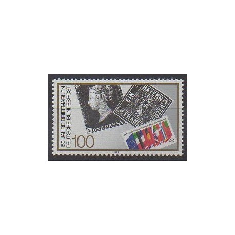 Allemagne occidentale (RFA) - 1990 - No 1311 - Timbres sur timbres