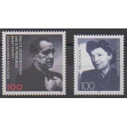 Germany - 1991 - Nb 1406/1407 - Celebrities
