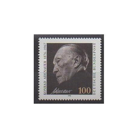 Allemagne - 1992 - No 1428 - Célébrités