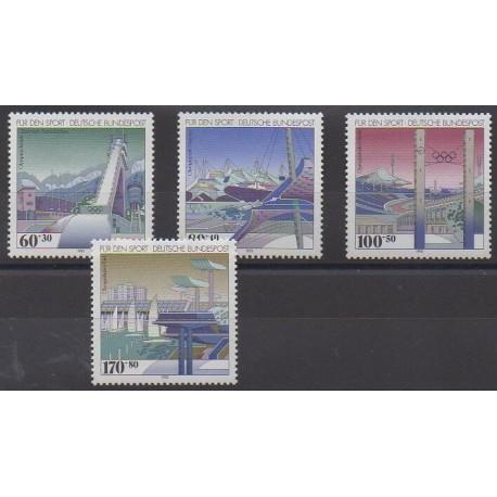 Allemagne - 1993 - No 1482/1485 - Sports divers