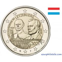 2 euro commémorative - Luxembourg - 2021 - 100 ans du Grand-Duc Jean - Version relief - UNC