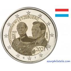 2 euro commémorative - Luxembourg - 2021 - 100 ans du Grand-Duc Jean - Version photo - UNC