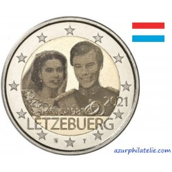 2 euro commémorative - Luxembourg - 2021 - The 40th anniversary of the marriage of Grand Duke Henri - Photo - UNC