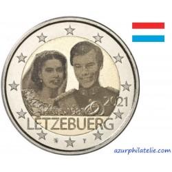 2 euro commémorative - Luxembourg - 2021 - 40 ans de mariage du Grand-Duc Henri - Version photo - UNC