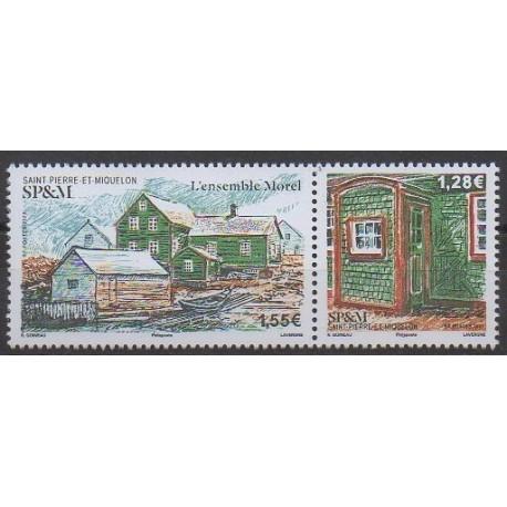 Saint-Pierre et Miquelon - 2021 - No 1261/1262 - Architecture