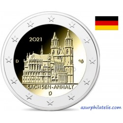 2 euro commémorative - Germany - 2021 - Saxony Anhalt - Cathedral of Magdeburg - UNC