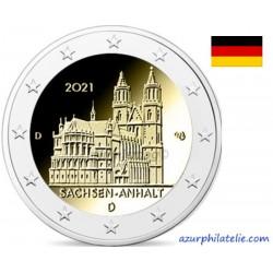 2 euro commémorative - Allemagne - 2021 - Saxe-Anhalt - Cathédrale de Magdeburg - UNC
