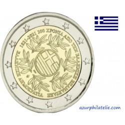 2 euro commémorative - Greece - 2021 - 200 years since the Greek Revolution - UNC