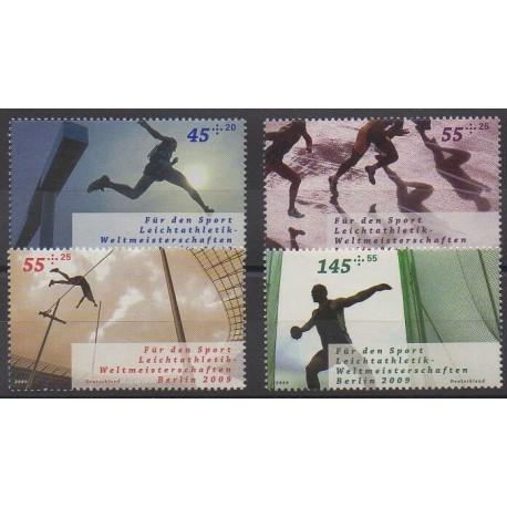 Allemagne - 2009 - No 2552/2555 - Sports divers