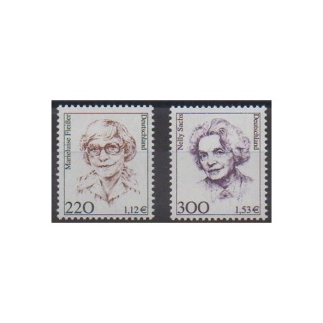 Allemagne - 2001 - No 1990/1991 - Littérature