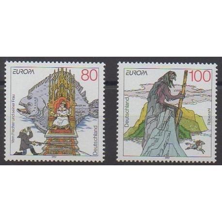 Allemagne - 1997 - No 1747/1748 - Littérature - Europa
