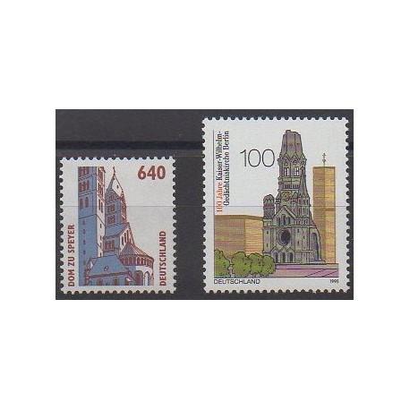 Allemagne - 1995 - No 1643/1644 - Églises
