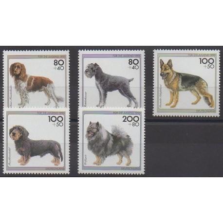 Allemagne - 1995 - No 1629/1633 - Chiens