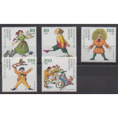 Allemagne - 1994 - No 1555/1559 - Littérature