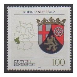 Germany - 1993 - Nb 1527 - Coats of arms