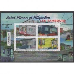 Saint-Pierre and Miquelon - Blocks and sheets - 2021 - Les tambours - Architecture