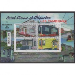 Saint-Pierre and Miquelon - Blocks and sheets - 2021 - Nb F1263 - Architecture