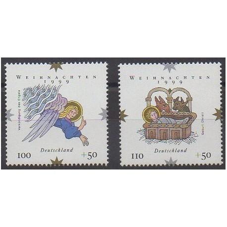 Allemagne - 1999 - No 1917/1918 - Noël