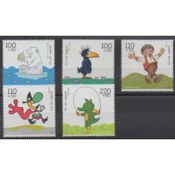 Allemagne - 1999 - No 1887/1891 - Dessins Animés - BD