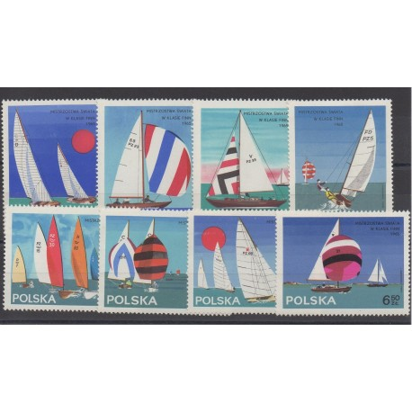 Pologne - 1965 - No 1440/1447 - Bateaux